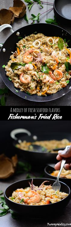 This fisherman's fried rice recipe is a delicious seafood medley made with rice, coconut milk and fresh seafood from the day's catch.