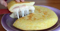 Domácí Mexická tortilla plněná šunkou! Je připravená během chvilky!