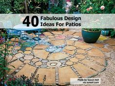 Patio Add On Ideas - Circular Patio Design Ideas Outdoor Rooms, Outdoor Gardens, Outdoor Living, Outdoor Decor, Outdoor Ideas, Outdoor Kitchens, Outdoor Furniture, Brick Garden, Garden Paths