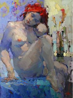 Don't you just love this painting? Nude by Viacheslav Korolenkov. Oil painting, figurative.