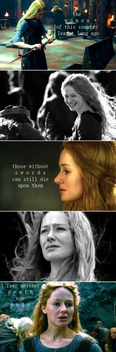 "Aragorn- ""What do you fear, m'lady?"" Eowyn- ""A cage..."""