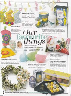 Our candy mint egg cup featured in Woman & Home magazine April 2014 issue, this made my Sunday complete, Jackie xxx