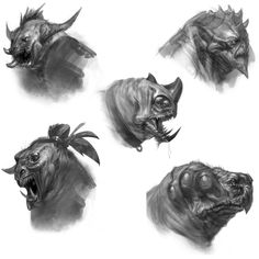 Minotaur Heads - Pictures  Characters Art - God of War: Ascension