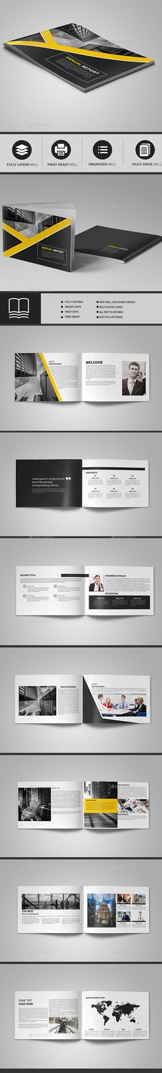 #brochure 16 page - #Brochures Print Templates Download here: https://graphicriver.net/item/brochure-16-page/19620473?ref=alena994
