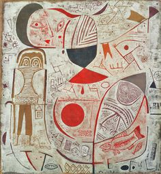 Printed Sheet with Picture, 1937. Paul Klee. Oil on canvas
