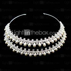 $40 Gorgeous Rhinestones With Imitation Pearl Wedding Bridal Tiara/ Headband/ Headpiece
