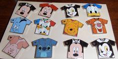 WDW Complete Set of T-Shirts Disney Pins 2011 - Hidden Mickey Cast Lanyard