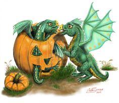 Artsy50 Halloween Dragon Hatchling Egg Baby Babies Cute Funny Humor Fantasy Myth Mythical Mystical Legend Dragons Wings Sword Sorcery Magic Art Fairy Maiden Whimsy