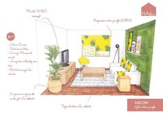 "Décoration salon ""style urban  jungle"" #deco #home #design https://www.facebook.com/NAdeco17/posts/503032209880727:0"