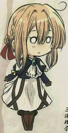 Anime Chibi, Manga Anime, Anime Art, Violet Evergarden Wallpaper, Violet Evergreen, Violet Garden, Fanart Manga, Violet Evergarden Anime, Kyoto Animation