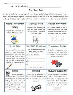 Author Study Activities