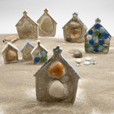 sculptur hous, sand, little pigs, build your house on the rock