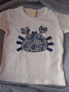 camiseta personalizada con cangrejo azul www.facebook.com/cottonlima