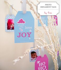 Hello everyone!  The lovely Eva of OhSmile created these free printable Photo Ornament Tags for...