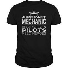 (Tshirt Top 10 Tshirt) Aircraft Mechanic Hero Discount Today Hoodies Tee Shirts