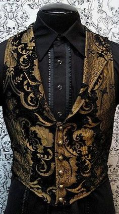 Remiel formal waistcoat I found 'Victorian Aristocrat Vest by Shrine Clothing Goth Steampunk Mens Jackets' on Wish, check it out! Outfits Casual, Mode Outfits, Fashion Outfits, Fashion Tips, Fashion Design, Fashion Clothes, Style Fashion, Fashion Ideas, Gq Fashion
