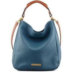 MARC by Marc Jacobs Softy Saddle Large Hobo Bag, Blue found on Polyvore