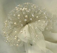 Pearls & Crystal Bouquet