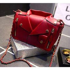 Designer Leather Jacket Satchel Handbag