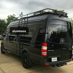 Sprinter van with Aluminess roof rack and ladder