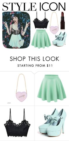"""Style Icon: Melanie Martinez"" by halseycrybaby ❤ liked on Polyvore featuring For Love & Lemons and Laura Mercier"