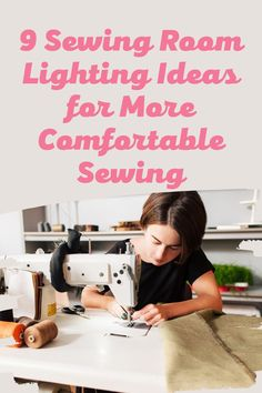 Choose from among these sewing room lighting ideas to enhance not only your craft and sewing work but also the look and feel of your creative space. Lighting Solutions, Lighting Ideas, Craft Room Lighting, Small Sewing Rooms, Gentle Sleep Training, Sewing Desk, Focus Light, Organizing, Organization