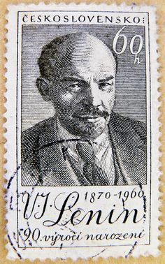 Great czech stamps Czechoslovakia 60 H Ceskoslovensko Lenin 1870 1960 postage 60 h stamps