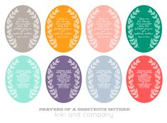 Free Mother Print from kiki and company. Comes in 8 colors!
