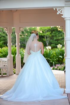 This Cinderella inspired wedding dress from Disney's Fairy Tale Weddings by Alfred Angelo is a dream come true