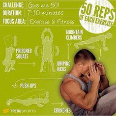 @fitness__exercises #Padgram give me 50! Squats, mountain climbers, push-ups, jumping jacks, crunches