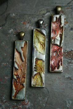 forest finery 22 - simply oak - orange oak leaf stick pendant - simple truths - MADE TO ORDER.