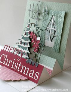 Memory Box Frosted Christmas Tree Die 100% steel 98668  Memory Box Dies - Classic Staircase