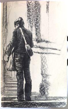 Moleskine J #007 graphite pencil drawing