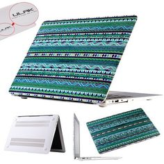 """Pandamimi ULAK(TM) Tribal Design Rubberized Matte Solid Hard Shell Case Cover for Apple Macbook Air 13"""" 13 inch (Green tribal) by ULAK, http://www.amazon.com/dp/B00FF7314A/ref=cm_sw_r_pi_dp_-pWqsb0JZQGVM"""