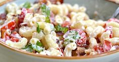 This Easy-To-Make BLT Macaroni Salad Is The Perfect Summer Side Dish via LittleThings.com