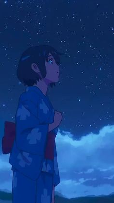 Sky Anime, Anime Galaxy, Anime Fnaf, Kawaii Anime, Manga Anime, Anime Naruto, Kimi No Na Wa Wallpaper, Anime Wallpaper Live, Your Name Wallpaper