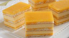 Šťavnatý dezert: Tvarohové rezy s pomarančovým sirupom - Pluska.sk Czech Recipes, Cake Bars, Hungarian Recipes, Sweets Cake, Asian Desserts, Piece Of Cakes, Sweet And Salty, Sweet Recipes, Baked Goods