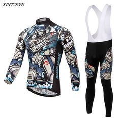 XINTOWN Men Bicycle Clothing Long Sleeve Jersey Cycling Jersey Cycling Bike Team Cycling Clothing CC0369