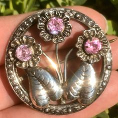 Excited to share this item from my shop: Art Deco Brooch, Silver Flower Brooch, Sterling Silver Brooch, Brooch, Antique Jewellery 1920s Jewelry, Vintage Silver Jewelry, Pink Jewelry, Art Deco Jewelry, Antique Jewelry, Flower Jewelry, Silver Jewellery, Crystal Jewelry, Crystal Brooch