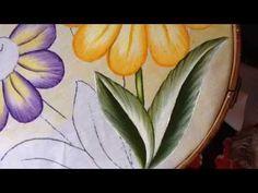 Pintura en tela florecitas # 7 con cony