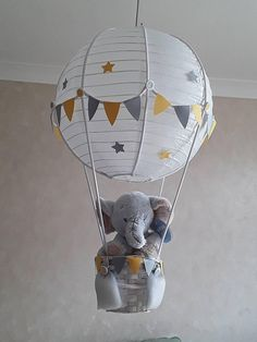 New baby room elephant balloon ideas New baby boy room elephant air balloon id. New baby room elephant balloon ideas New baby boy room elephant air balloon ideas N Hot Air Balloon Centerpieces, Diy Hot Air Balloons, Balloon Lights, Hot Air Ballon Diy, Elephant Centerpieces, Baby Room Boy, Baby Room Decor, Baby Boy Shower, Nursery Room