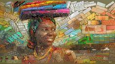 www.cewax.fr aime cet art - Charis Tsevis African bricks for Sasi's