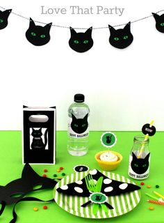 Love That Party - Birthday Invitations and Party Decorations: Cute Kids Halloween Black Cat Party Ideas