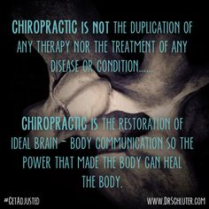 Your body knows what to do, chiropractic just helps it find it's way! #GetAdjusted #Chiropractic http://www.DrSchluter.com