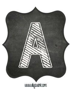 Printable_Chalkboard_ Letter_A                              …