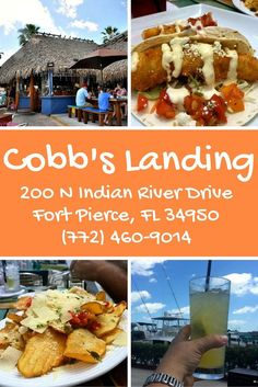 Cobb's Landing has great views and eats on the waterfront in Fort Pierce, Florida. May I suggest the potato chips, topped with red peppers, capers, fresh herbs, and Parmesan cheese. Yum!
