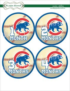 Chicago Cubs Onesie Stickers - might have to start these for Andrew