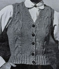 Easy Cable Vest Pattern