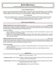 resume sample of a childcare provider with experience managing groups of various ages and assessing child behavior needs and health to determine - Sample Child Care Worker Cover Letter