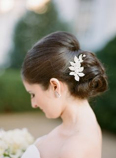 #hairstyles  Photography: Abby Jiu - www.abbyjiu.com  View entire slideshow: 15 Best Bridal Buns on http://www.stylemepretty.com/collection/539/
